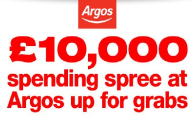 £10,000 Spending Spree At Argos Up For Grabs