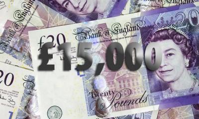 Win £15,000 Cash Free