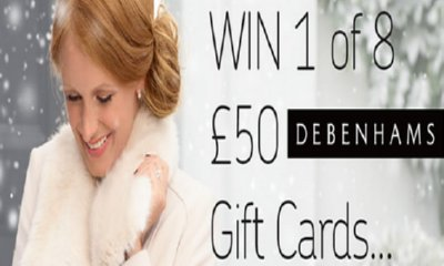 Win 1 of 8 £50 Debenhams Gift Cards