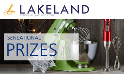 Win KitchenAid Kit, £1000 of Lakeland Gift Vouchers