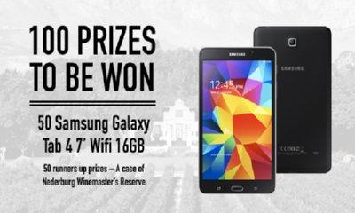 Win a Free Samsung Galaxy Tablet & Wine