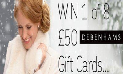 Win 1 of 8 £50 Debenhams Gift Cards