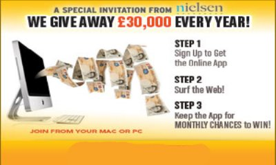 Win upto £30,000 each Month